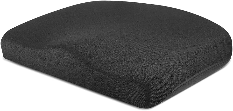 Tsumbay Seat Cushion for Office Soft Memory Foam Seat Cushion with Carry Handle,Washable Cover,Comfortable Coccyx Cushion for Home Office Chair Pad, Car Seat, Wheelchair -Black