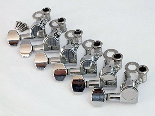 Alice CHROME MACHINE HEADS for electric guitar strat, tele style AS016P - 6 in line