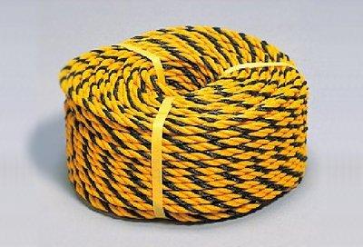 工事用 黄色×黒 コーナーロープ10mm 100m巻 ロープベルト 縄ベルト B075J8PV7X