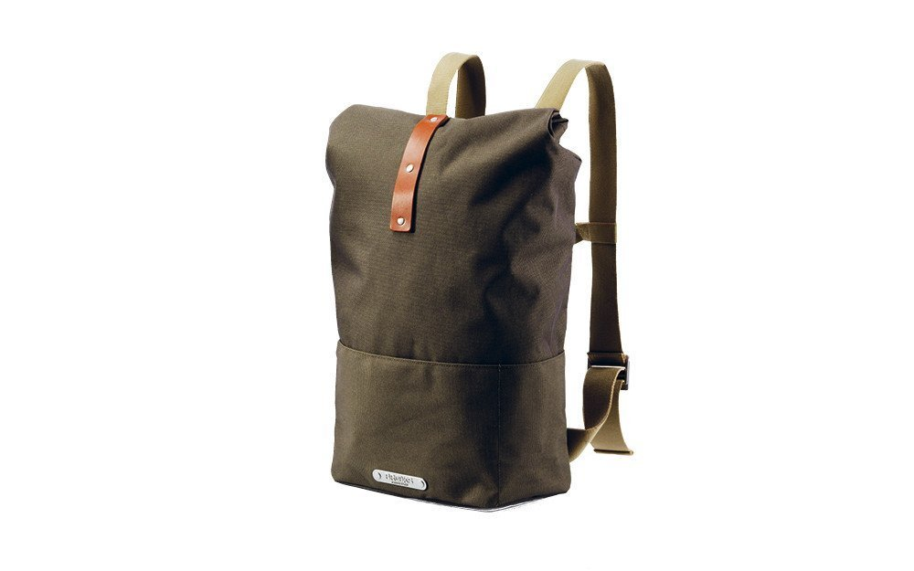 Brooks England Hackney Backpack Green/Honey [並行輸入品] B077QRB9PY