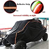 UTV Cover Waterproof UTV Storage Cover for Polaris RZR-Protect Your Off-road Vehicle from Rain, Snow, Dirt,UV Damage(Black)