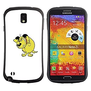 """Pulsar iFace Series Tpu silicona Carcasa Funda Case para Samsung Note 3 , Carácter cómico del Arte Dibujo Historieta del perro"""""""