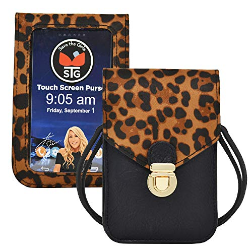 Touch Screen Purse by Lori Greiner Fits Most Smartphones – Stylish Crossbody with Shoulder Strap -RFID Keeps Cash…