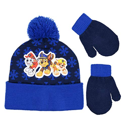 731be96820e Nick JR Paw Patrol Boys Beanie Winter Hat and Mitten Set - Toddler Size   4015