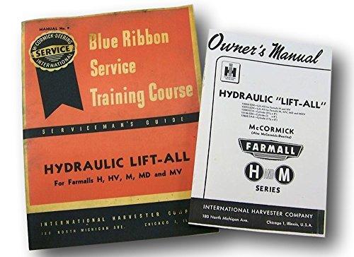 Ih Farmall H Hv M Md Mv Hydraulic Lift-All Owners Service Repair Manual Catalog