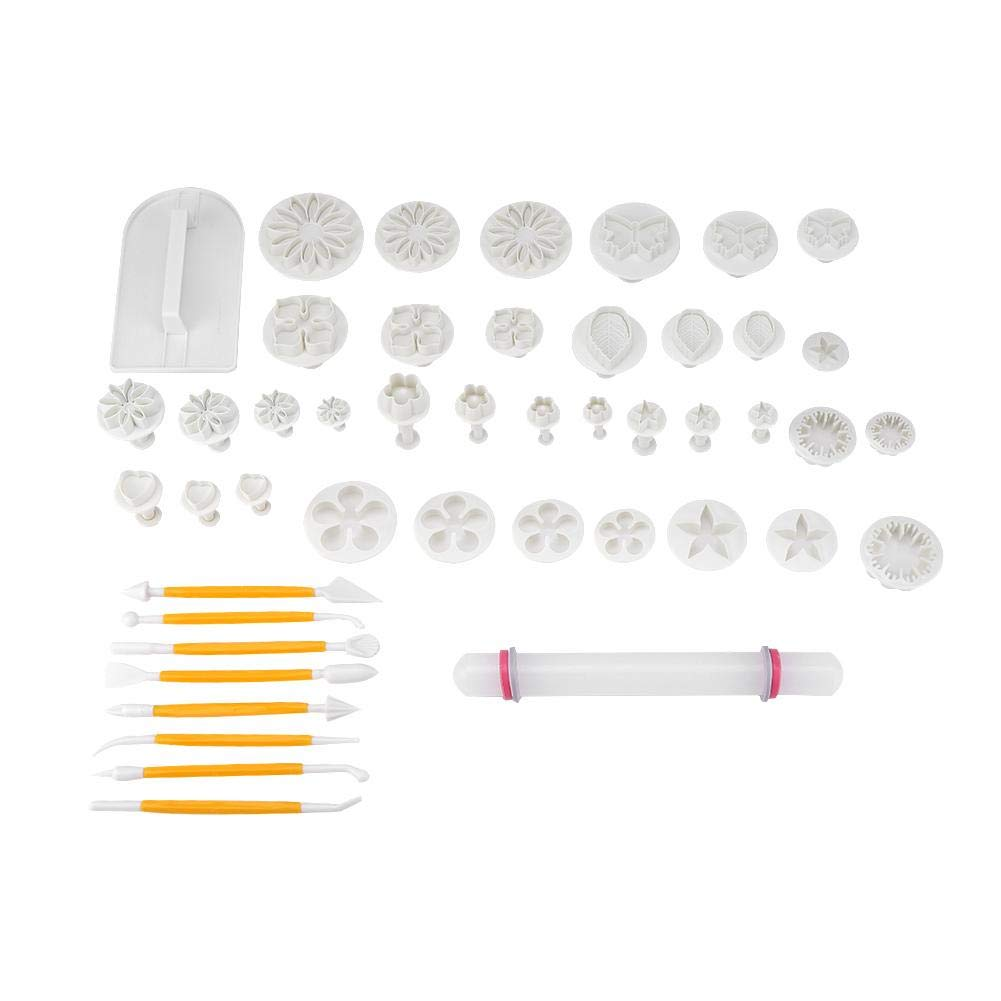 Fondant Cake Mold Decoration Baking Tool, 14 Kinds 46 Pcs Fondant Cutters Molds Cookies DIY Cake Decoration Pastry Baking Tool by Taidda (Image #1)