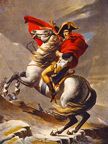 PAINTINGS PORTRAIT NAPOLEON BONAPARTE EMPEROR FRANCE ALPS HORSE NEW FINE ART PRINT POSTER PICTURE 30x40 CMS - France To Mail Class First