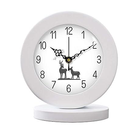 Escritorio de Madera Maciza/Reloj de Mesa Reloj de Estante de ...