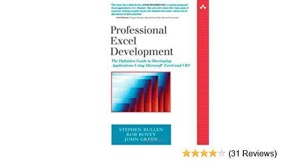 Professional Excel Development: The Definitive Guide to Developing