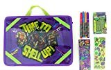 ninja turtle arts and crafts - Teenage Mutant Ninja Turtles Portable Activity Desk - 13 Pcs ✺ ( Desk + 6 Crayons + 4 Markers + 2 Stickers Sheets)