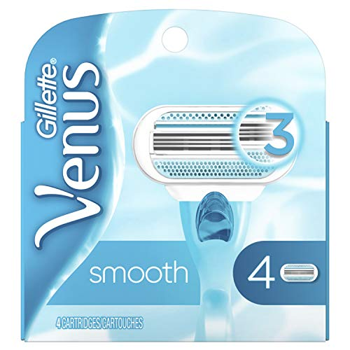 Womens Gillette Venus Refills - Gillette Venus Smooth Women's Razor Blades - 4 Refills (Packaging May Vary)