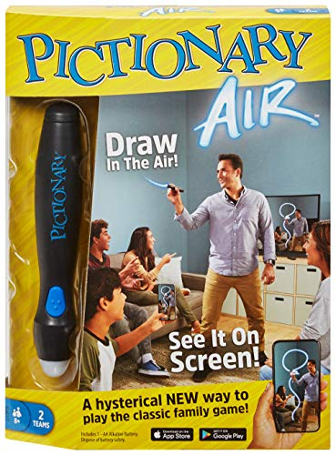 Pictionary Air Drawing Game, Family Game with Light-up Pen and Clue Cards, Links to Smart Devices, Makes a Great Gift…