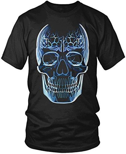 Glass Skull, Crystal Skull Men's T-shirt, Amdesco, Black Large
