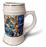 3dRose Alexis Photography - Objects - Young snow covered oak tree and a solar power panel in winter park - 22oz Stein Mug (stn_280889_1)