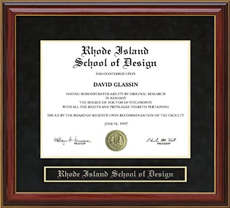 Amazon.com - Rhode Island School of Design (RISD) Diploma Frame ...