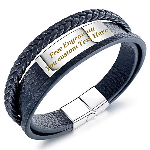 Nice leather band that is engraved with your words