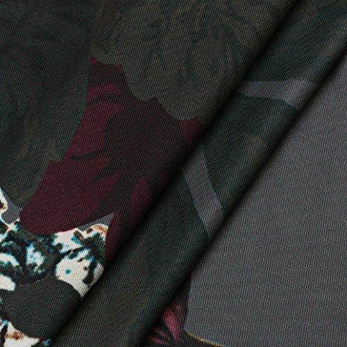 ZEZKT☼Frauen Clubwear Kleider V-Ausschnitt Blumen Bodycon Mini Kleid V Neck Backless Mini Kleid Cami Slip Kleid Spaghetti Strap Cami Swing Stil Sommer Kleid Casual Party Kleid Grau