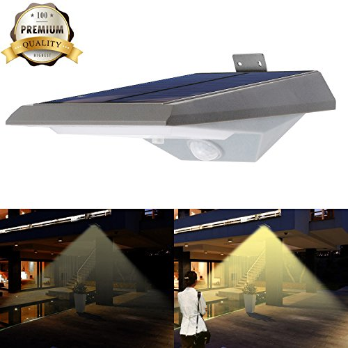 Solar Motion Sensor Light Outdoor, iThird 18 LED 250LM So...