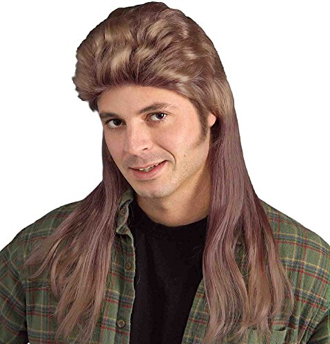 Halloween Costume Joe Dirt (Long Brown Mullet Wig)