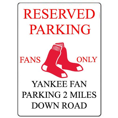 Red Sox Reserved Parking Custom Sign Decal Sticker Aluminum 9
