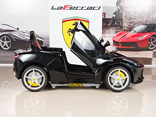 BigToysDirect 12V Ferrari LaFerrari Battery Operated Kids Ride On Car with MP3 and Remote Control – Black