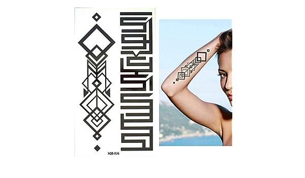 adgkitb 3pcs pequeño Brazo Lleno de Flores Tatuaje Temporal a ...