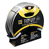 Forever Steel Hose (25') 304 Stainless Steel Garden Hose - As Seen On TV - Lightweight, Kink-Free, and Stronger Than Ever, Durable and Easy to Use