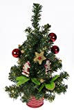 Clever Creations Table Top Christmas Tree with Ornaments | Red and Gold Christmas Decor Theme Shatter Resistant Ornaments, and Star | Stands 16' Tall