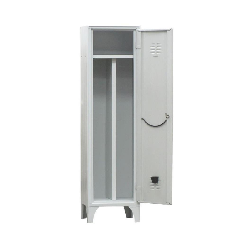 Armadio spogliatoio sporco/pulito in metallo, 1 vano, 1 tramezzo, Mis. 500 L x 500 P x 1800 H mm, serratura con chiave PACK SERVICES SRL