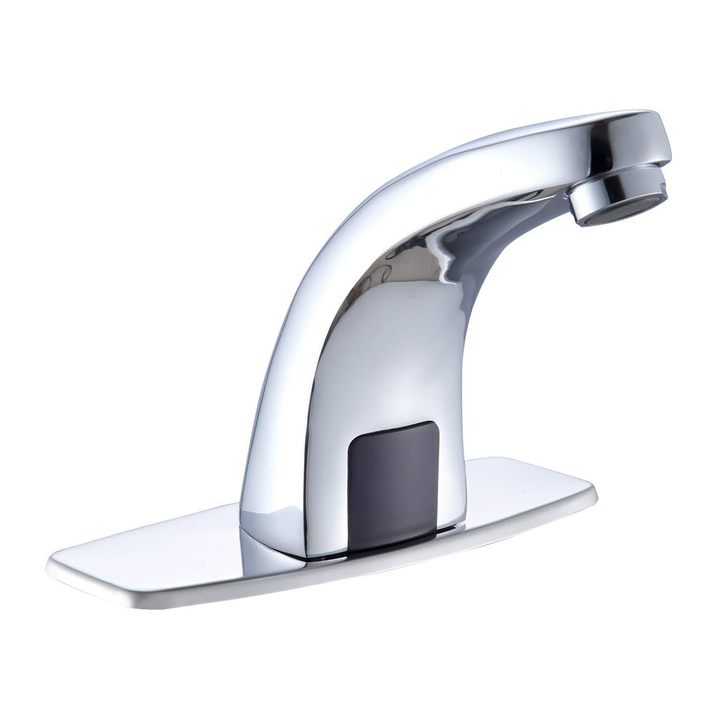 Modundry Commercial Deck Mount Automatic Sensor Bathroom Sink Faucet with Auto Sensor Chrome Bath Tub Faucets by Modundry