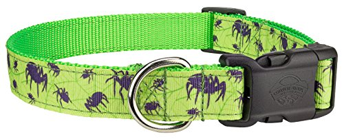 Country Brook Design Deluxe Itsy Bitsy Spider Ribbon Dog Collar - Large