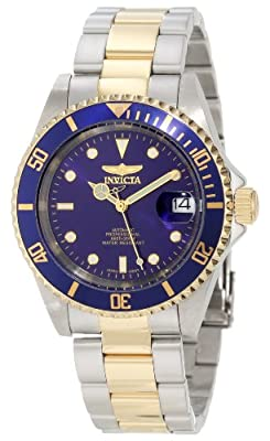 "Invicta Men's 8928OB ""Pro Diver"" 23k Gold Plating and Stainless Steel Two-Tone Automatic Watch"