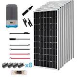 Renogy 800 Watt 12 Volt Solar Premium Kit w/ 8 Pcs 100W Solar Panel+60A MPPT Charge Controller+Solar Cable+Solar Fuse Mounting Z Brackets for RV, Boat