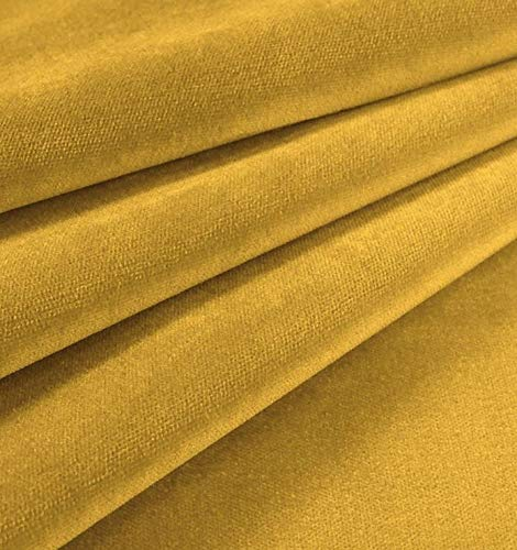 "54"" Wide JB Martin Upholstery Velvet Fabric Como Antique Gold Sold by The Yard"