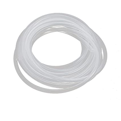 7X10mm 2M Yesallwas Silicone Tube Flexible Silicone Rubber Tubing Water Air Hose Pipe for Pump Transfer