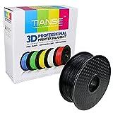 TIANSE Black 1.75mm PLA 3D Printer Filament Dimensional Accuracy +/- 0.03 mm 2.2 pound Spool