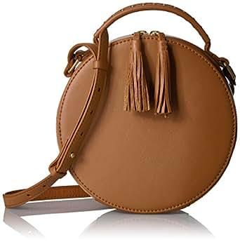 The Fix Hampton Crossbody Leather Circle Bag, Havana Tan