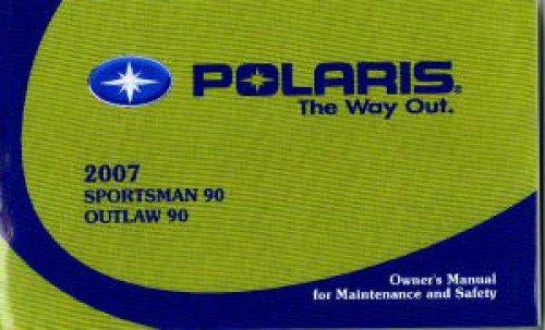 - 9920868 2007 Polaris Sportsman Outlaw 90 ATV Owners Manual
