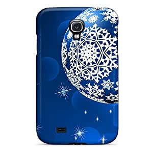 Snap-on Case Designed For Galaxy S4- Blue Snowflake Balls by icecream design