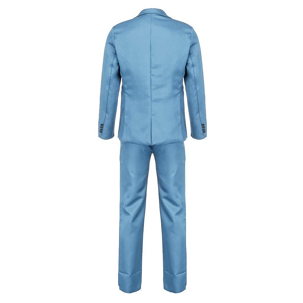 Bibao traje de 2 piezas para hombre para boda chaqueta y pantalones casual negocios azul marino cena para hombre 8 colores disponibles ajustado con botones esmoquin