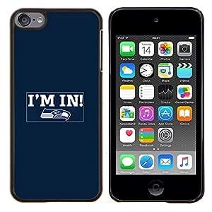 Estoy dentro- Metal de aluminio y de plástico duro Caja del teléfono - Negro - iPod Touch 6