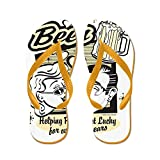 Truly Teague Kid's Beer: Helping People Get Lucky Orange Rubber Flip Flops Sandals 4.5-7
