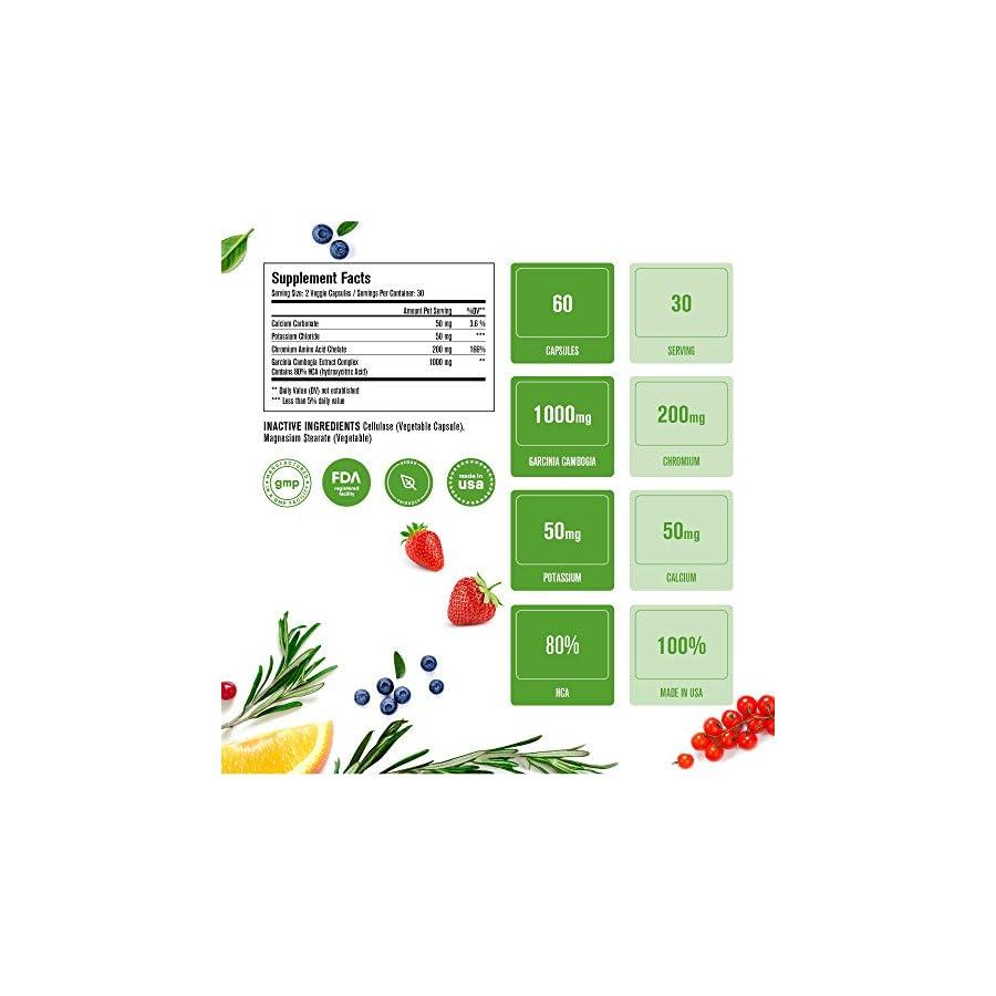 Natrogix Pure Garcinia Cambogia w/ 80% HCA (Hydroxycitric Acid) Complex All Natural Appetite Suppressant, Weight Loss Supplement Formula