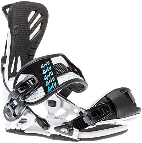 - Gnu B-Free Snowboard Bindings Womens Sz M (7-9) White