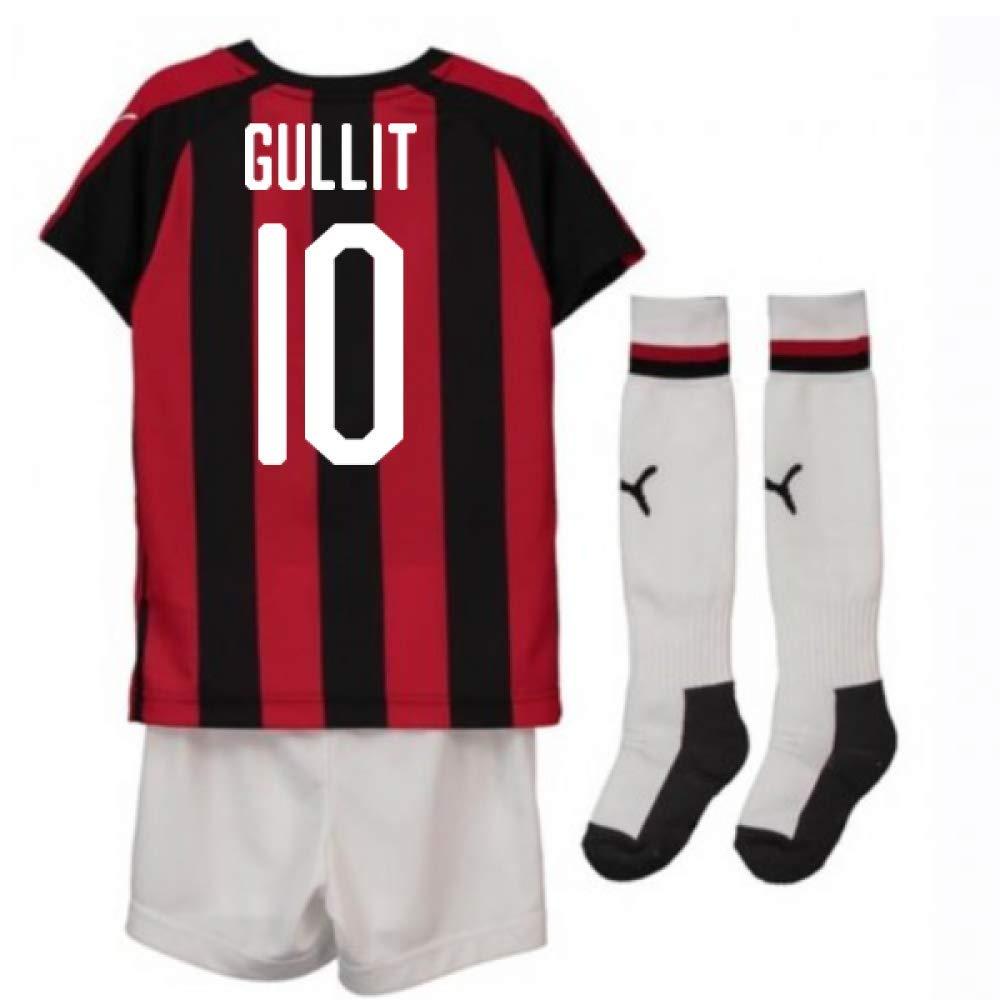 UKSoccershop 2018-2019 AC Milan Puma Home Mini Kit (Ruud Gullit 10)