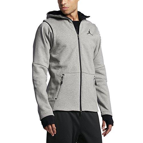 Jordan JORDAN SHIELD FZ HOODIE mens novelty-hoodies 809486-063_L - DK GREY HEATHER/BLACK by Jordan