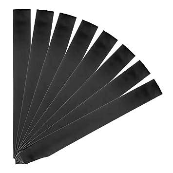 Amazon.com: Yolito - 8 bandas de satén en blanco negro lisas ...