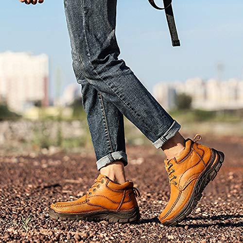 Moto Moto più Stivali Stivali Martin da Antiscivolo Stivali Uomo Escursionismo da Scarpe Trekking Vellutate Comodi Addensare da Brown Stivali Scarpe da qwFwXvfxH