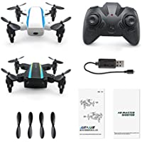 MuLuo JJRC 2PCS H345 Mini Drones Foldable Drones UAV Aerial Four-axis Unmanned Aerial Vehicle