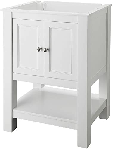 Gazette 24 in. W x 18 in. D Vanity Cabinet Only in White